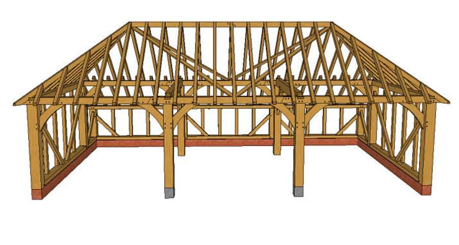 timber framed car port