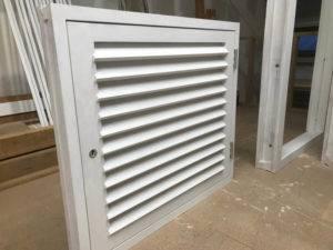 shutter box on workshop floor