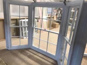 bay window on workshop floor