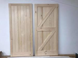 wooden doors against a wall